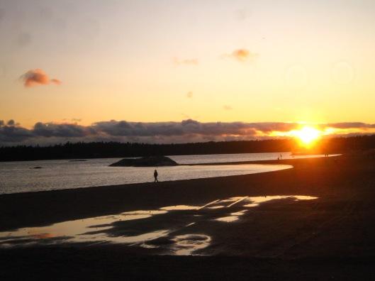Ηλιοβασίλεμα στο Vuosaari