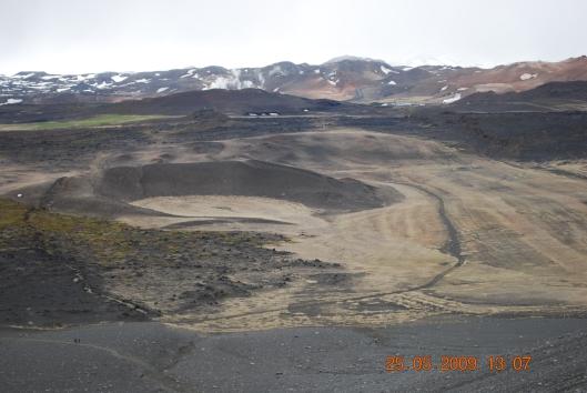 Ηφαίστειο Hidarfjall, οπως φαίνεται από την κορυφή του Hverfjall