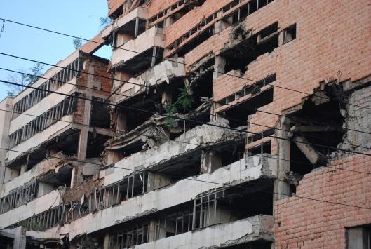 Βελιγράδι, το βομβαρδισμένο Υπουργείο Εθνικής Άμυνας