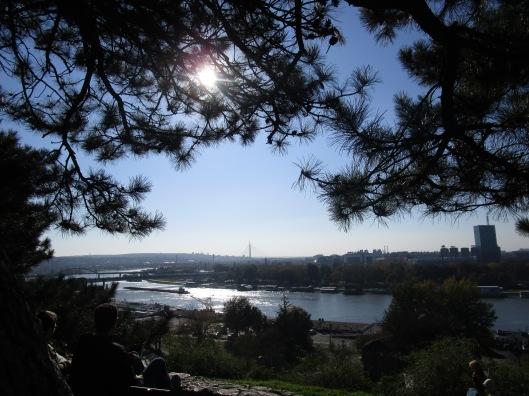 Καλεμαγκντάν: ή θέα προς το σημείο που ο Σάβας ενώνεται με το Δούναβη