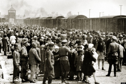 The arrival of Hungarian Jews in Auschwitz-Birkenau, in German-occupied Poland, June 1944. Between May 2nd and July 9th, more than 430,000 Hungarian Jews were deported to Auschwitz. (Photo by Galerie Bilderwelt/Getty Images)
