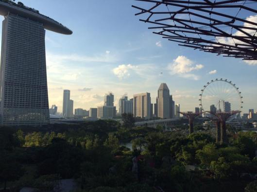 η θέα προς Marina Bay Sands από Gardens by the bay